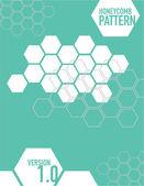 White honey comb pattern — Stock Vector