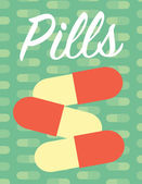 Pills page layout poster — Stock Vector