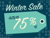 Winter sale sign — Stockvektor