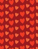 Röda hjärtan mönster — Stockvektor