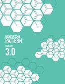 Honey comb pattern — Stock Vector