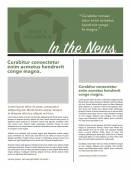 Newsletter di layout di pagina — Vettoriale Stock