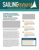 Sailing page layout — Vector de stock
