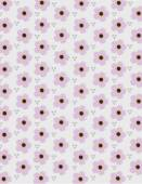 Pink flower pattern over gray background — Stock Vector