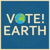 地球投票 — ストックベクタ
