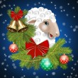 New Year Sheep — Stock Photo #58248305
