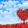 Background heart tree — Stock Photo #64357947