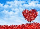 Background heart tree — Stock Photo