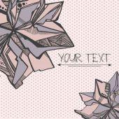 Graphic flower card polka dot — Stock Vector