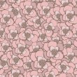 Pastel hand drawing pink  flowers seamless pattern. — Stock Vector #60723311