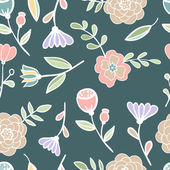 Seamless floral colorful pattern Vector illustration stained glass — Wektor stockowy