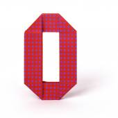 Origami paper number zero — Stock Photo