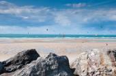 Kite and windsurfing — Stock Photo