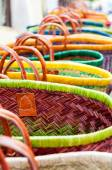 Colourful wicker baskets — Stock Photo