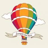 Vector illustration of colorful air balloon — Cтоковый вектор