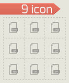 Vector black file format icons set — Stock Vector