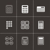 Vector black calculator icon set — Stock Vector
