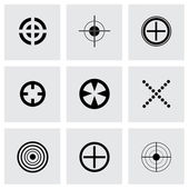 Vector black target icons set — Stock Vector