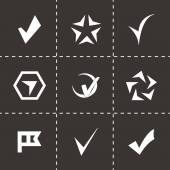 Vector black confirm icons set — Stock Vector