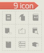 Vector black schoolbook icon set — Stock Vector