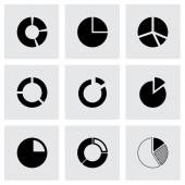 Vector pie chart icon set — Stock Vector