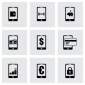 Vector mobile banking icon set — Stock Vector
