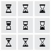 Vector hourglass icon set — Stock Vector