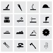 Vector carpentry icon set — Stock Vector