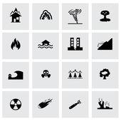 Vector disaster icon set — Stock Vector
