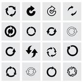 Vector refresh icon set — Stock Vector