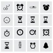 Vector time icon set — Vecteur