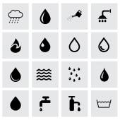 Vector water icon set — Stock Vector