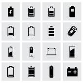 Vector battery icon set — Stock Vector