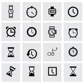 Vektorový sada ikon hodiny — Stockvektor