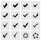 Vector confirm icon set — Stock Vector