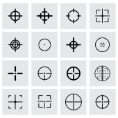 Vector crosshair icon set — Stock Vector
