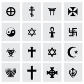 Vector religious symbols icon set — 图库矢量图片