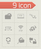 Vector FTP  icons set — Stock Vector