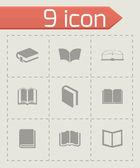 Vector schoolbook icons set — Stock Vector