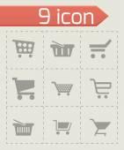 Vector shopping cart icons set — Stock Vector