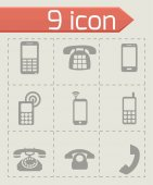 Vector telephone icons set — Stock Vector