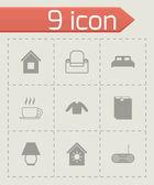 Vector homey icon set — Stock Vector