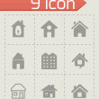 Vector house icons set — Stock Vector #58917431