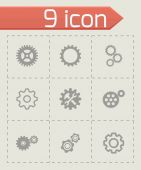 Vector gear icons set — Stock Vector