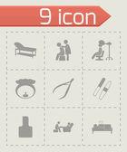 Vector spa icon set — Stock Vector