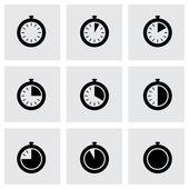 Vector stopwatch icon set — Vettoriale Stock