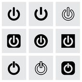Vector shut down icon set — Stock Vector