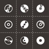 Vector cd icon set — Stock Vector