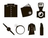 Vector accessories icon set — Stock Vector