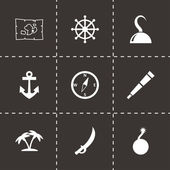 Vector pirate icon set — Stock Vector